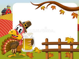 thanksgiving day horizontal frame pilgrim turkey mug stock