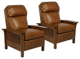 two barcalounger craftsman ii top grain leather recliner saddle