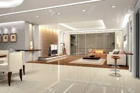 modern design interior of living room 3d render stock photo