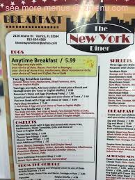 menu of the new york diner restaurant valrico florida - Fl Che New York