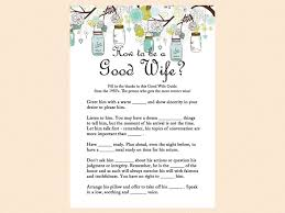 how to be a good wife 1950 good wife guide mason jars bridal