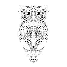 Patterned Flying Owl Drawing Illustration 218 Patterned Owl Stock Vector Illustration And Royalty Free