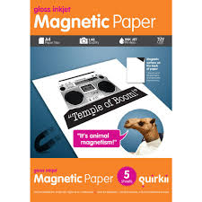 quirkii a4 magnetic paper 5 sheets officeworks