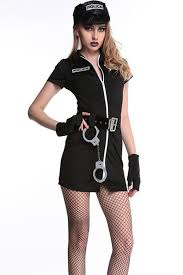 cop costume black zipper up cop costume cops costumes policewoman