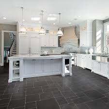 White Kitchen Dark Floors by The Best Kitchen Floor 2planakitchen