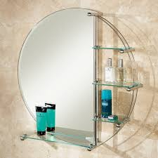 cute delby bathroom mirror with shelf small room living room new