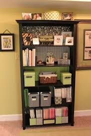 wallpaper that looks like bookshelves wallpapered office nook bookcase organization organizations and