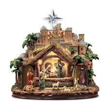 amazon com thomas kinkade following the star nativity sculpture