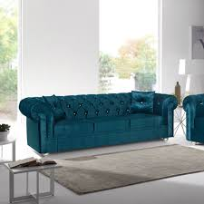 Velvet Sofa Bed Sale 1098 00 Chesterfield Velvet Sofa Turquoise Sofas Sofa
