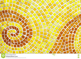yellow swirl pattern tiled bathroom wall mini square tiles