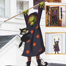 5ft 3d crashed witch double sided halloween banner decoration
