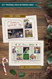 silent night christmas photo card year in review chalkboard