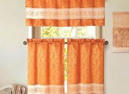Burnt Orange Curtains Marvelous Burnt Orange Kitchen Curtains Designs With Dark Grey