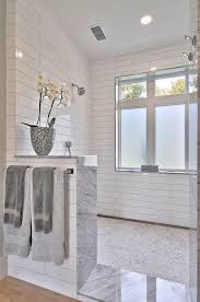 Open Shower Bathroom Design Best 25 Half Wall Shower Ideas On Pinterest Bathroom Showers