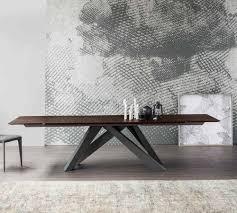 bonaldo big wood extending table design icons