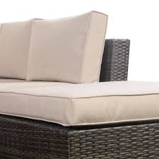 4 pc cushioned wicker rattan sofa 5 seat outdoor furniture sets