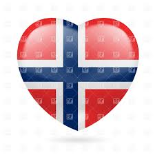 Flag Of Norway Heart With Norwegian Flag Colors I Love Norway Royalty Free