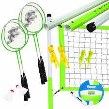 amazon com franklin sports intermediate badminton volleyball set