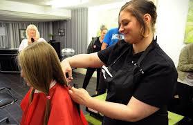 rosie bunce has hair cut for charity gazette live