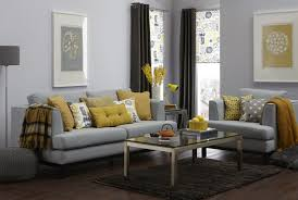 What Colors Go With Yellow by Living Room Spiffy Yellow Plus Grey Living Room Curtains Gray