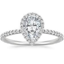 shaped engagement ring pear shaped diamond engagement rings brilliant earth