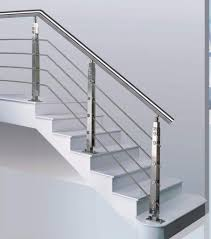 stainless steel stair railing home design styles