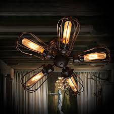 edison bulb ceiling fan electro bp vintage barn metal semi flush mount light max 300w with 5