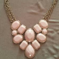 light pink necklace images Jewelry light pink statement necklace poshmark jpg