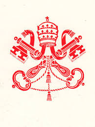 Red And White Flag With A Cross Emblema Santa Sede Rosso Jpg