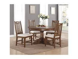 flexsteel wynwood collection sonora mission round dining table and