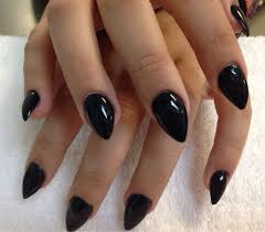 fun stiletto nails with black acrylic overlay yelp nail art