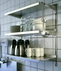 metal kitchen shelves wall mount style artistic 3 tier shelf walls