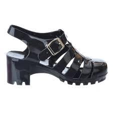 retro jelly sandals ladies womens girls summer beach heel