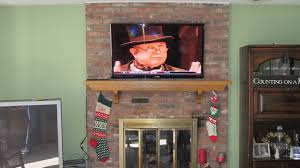 interior wooden fireplace mantel design ideas with mounting tv