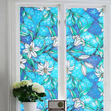 Window Decor Film 1pc Diy Window Film Glass Privacy Decorative Cling Cover Stained