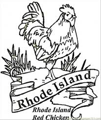 red chicken rhole island coloring free usa coloring