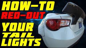 frs tail light vinyl how to red out your taillights frs youtube