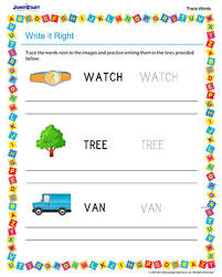 write it right u2013 free english worksheet for kindergarten u2013 jumpstart