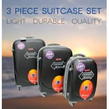 ultra light luggage sets luggage sets 3 piece ultra light luggage set black hardshell abs