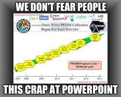 Nsa Meme - we don t fear people this crap at powerpoint nsa prism slide