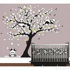 stickers panda chambre bébé bdecoll arbre généalogique et panda stickers muraux décalcomanie
