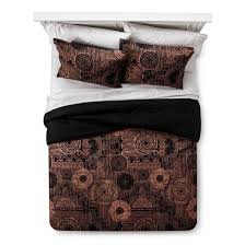 Tan And Black Comforter Sets Black U0026 Tan Geo Comforter Set Xhilaration Target