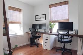 Two Desks In One Office Before After A Home Office Makeover With Space For Two