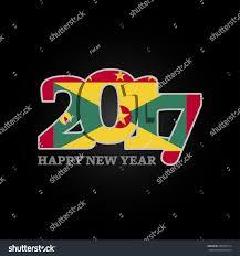 Grenda Flag Year 2017 Grenada Flag Pattern Happy Stock Vector 526102714