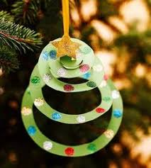 construction paper tree ornament easy diy