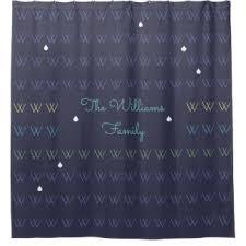 Blue Gingham Shower Curtain Letter Shower Curtains Zazzle