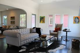 Modern Traditional Furniture by Modern Art In A Traditional Living Room Eclectic Living Room