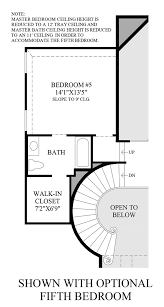 Master Bedroom Plans With Bath And Walk In Closet Canyon Falls The San Augustine Home Design