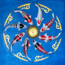 Different Koi Fish Meanings Koi Fish Finest Luxury Painting Gold Leaf Royal
