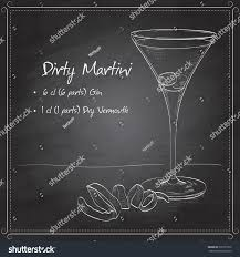 dry vermouth color cocktail dirty martini mixed drink vodka stock vector 336771872